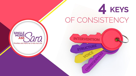 4 Keys of Consistency Sara Sherman Single Moms Ask Sara
