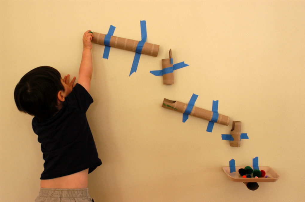Marble run kids activity