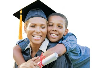 Single Moms Guide to Getting a Degree Graduate and son