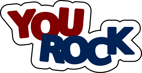 You Are Awesome ...You Rock Clipart